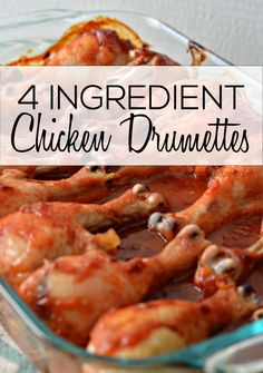 4 Ingredient Chicken Drumettes 4 Ingredient Chicken Drumettes- a family favorite dinner recipe. So easy to make and tastes amazing! Best Chicken Recipes, Crockpot Recipes, Cooking Recipes, Casserole Recipes, Chicken Drumettes Recipe, Easy Dinner Recipes, Dinner Ideas, Easy Dinners, Meal Ideas
