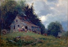Samuel Lancaster Gerry (1813-1891) - Appalachian Mountain Sharecroppers. Oil on Canvas. Circa 1870's.