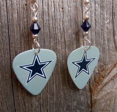Blue Star Cowboys Guitar Picks with Indigo Crystals by ItsYourPick on Etsy