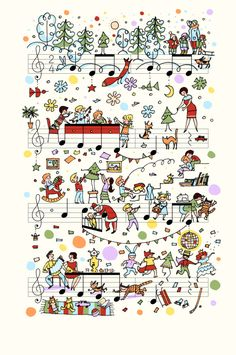 People Too, Jingle Bells. Photo courtesy Alexey Lyapunov and Lena Erlich / People Too. Sheet Music Art, Music Paper, Music Sheets, Music Music, Music Painting, Music Artwork, Music Doodle, Doodle Art, Music Images