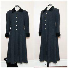 60s Grey Wool Coat Medium Large Peacoat Jacket by WhiteWaveVintage, $98.00