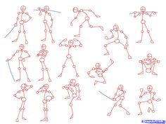 drawing poses | Draw Anime Poses, Step by Step, Anatomy, People, FREE Online Drawing ...