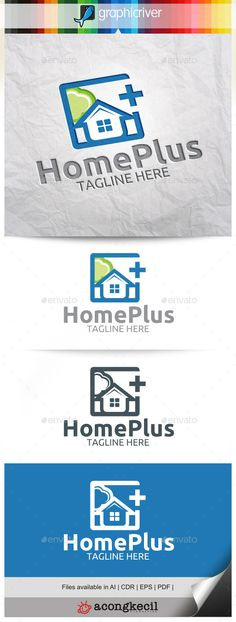 Eco House Logo House logos and Logo templates - home for sale template