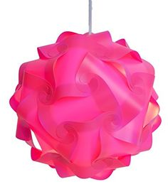$15.89  - Modern Puzzles Lamp Shade  with 1 Pcs Colorful LED Candle Light Self DIY Assembled Puzzle Lights Mordem Lamp Light Iq Lamp Shades L Size Home Decor Light Pink -- To view further for this item, visit the image link. (This is an affiliate link) #LightingCeilingFans