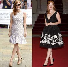 Jessica Chastain In Michael Kors & Oscar de la Renta - 2014 San Sebastian Film Festival - Red Carpet Fashion Awards