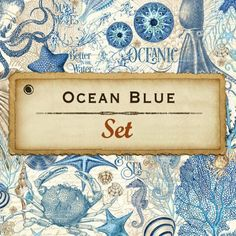 8 Sheets Graphic 45 Ocean Blue 12x12 Paper Collection 8 | Etsy Graduation Album, Beach Scrapbook Layouts, Mixed Media Scrapbooking, Graphic 45, Home Decor Wall Art, Journal Cards, Paper Art, Card Making, Ocean