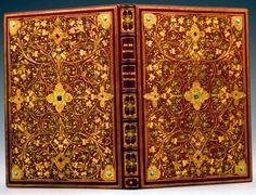 Rudyard Kipling's Recessional. Jeweled, red morocco binding by Sangorski & Sutcliffe.