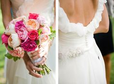 Chiffon and peonies/roses.
