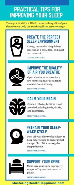 Practical Tips for Improving Your Sleep Tonight and Every Night   Click through to learn more...