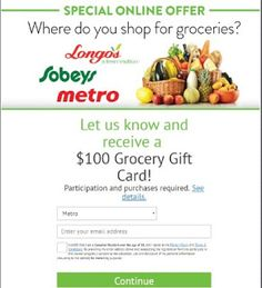 Get a Grocery Gift Card Free Gift Cards, Free Gifts, Mcdonalds Gift Card, Canadian Holidays, Express Gifts, Free Groceries, Grocery Items, Gift Card Giveaway, Keeping Healthy