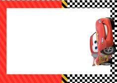 Convite ou Moldura Relâmpago Mcqueen--- http://fazendoanossafesta.com.br/2015/06/kit-festa-carros-disney-gratis.html/