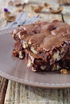 Brownie aux noix (avec texte)