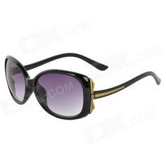 Oulaiou 9511 de moda del marco UV400 de protección de plástico de la Mujer  de resina lente gafas de sol - Negro + Gris 38b4b68b647a