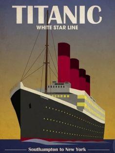 Old Titanic Poster