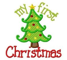 My First Christmas Tree Applique - 3 Sizes! | What's New | Machine Embroidery Designs | SWAKembroidery.com Fun Stitch