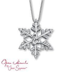 Open Hearts by Jane Seymour® Diamond Snowflake Necklace