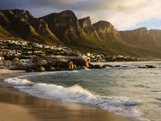 Clifton Beach and the Twelve Apostles, Cape Town, South Africa Oh The Places You'll Go, Places To Travel, Places To Visit, African Holidays, Santorini, Le Cap, Maldives, Destinations, Cape Town South Africa