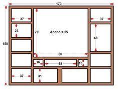 Image result for muebles para tv mdf PLANOS #mueblesparatv