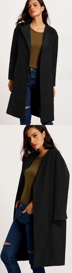 Simple long trench coat for women is a classic forever .As simple and generous it is ,it can make a easy &chic fashion look for women.Click for more coat for you.