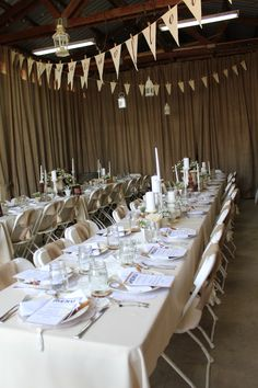 Anniversary Party (love how the burlap is wrapped around the chairs) Mom Dad Anniversary, 60th Anniversary Parties, Anniversary Ideas, 35th Wedding Anniversary, Grown Up Parties, Cake Table Decorations, Ruby Wedding, Party Ideas, 50th Cake