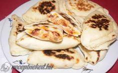 Pupusas házi töltelékkel recept fotóval Croatian Recipes, Hungarian Recipes, Hungarian Food, Quesadilla, Ravioli, Meat Recipes, Scones, Pancakes, Food Porn