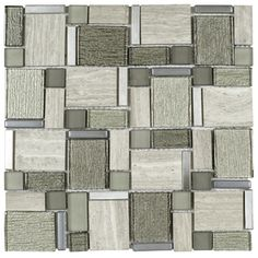 Elida Ceramica Bianca Blended Linear Mosaic Marble Wall