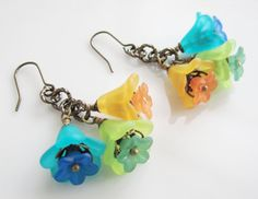 Beautiful Lily Flower Earrings by Peonia on Etsy, $12.00