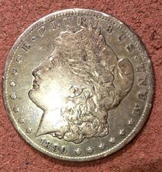 1890 Morgan Silver Dollar by RobbienaeQuilts on Etsy, $152.00