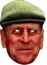Prince Philip Face Mask. Have fun with this mask at the festivities of Queen's 90th birthday.http://www.novelties-direct.co.uk/Prince-Philip-with-Hat-Face-Mask.html