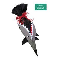 Schultüte Hai fertig gebastelt, inkl. Schulstarterpaket GRATIS