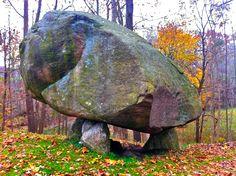 Balanced Rock, natural erratic, North Salem NY-sven vik