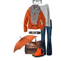 A fashion look from October 2012 featuring pullover sweater, double breasted coat and bootcut jeans. Browse and shop related looks.