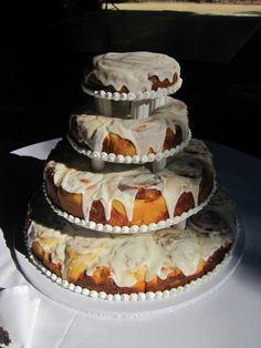 Unique wedding cake alternative- cinnamon rolls. Perfect for a ...