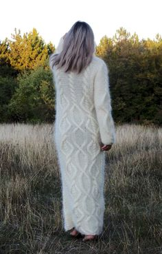 cream Knit Mohair Fluffy Jumpers, long sleeves Knit high neck Mohair loose dress Sweater #Christmas #Knit #Mohair #Fluffy #Jumpers www.loveitsomuch.com