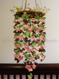 Butterfly Garden Baby Paper Mobile by whimsicalaccents