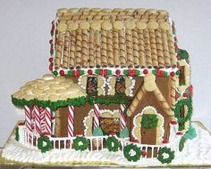 If these gingerbread houses were real, they'd be worth a pretty penny. It's amazing the time and money some people will spend to make their house a gingerbread mansion. I would live in ...