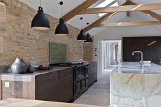 mur en brique de cuisine moderne
