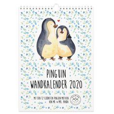 Diese und weitere Kalender für 2020 von Mr.&Mrs.Panda findest du unter www.pandaliebe.de Monat, Mr Mrs, Panda, Design, Art, Personal Organizer, Co Workers, Wall Calendars, Craft Art