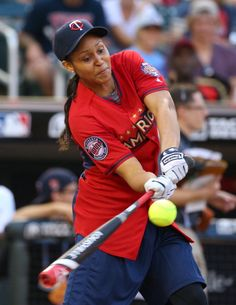 Maya Moore at the 2014 MLB All-Star legends and celebrity softball game on July 13, 2014 http://www.gettyimages.com/detail/news-photo/maya-moore-at-the-2014-mlb-all-star-legends-and-celebrity-news-photo/452126256