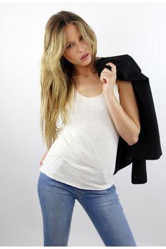 Top crudo,  beige top, shirt, basicos, algodón, System Action, shop online, lookbook, model, street Style, SS2015,