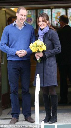 The pregnant Duchess of Cambridge smiled this morning as she left hospital after four days of treatment for acute morning sickness.
