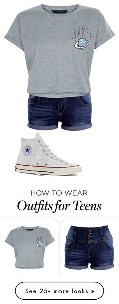 """tom boy"" by keepitziere on Polyvore featuring New Look and Converse"