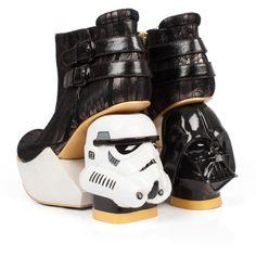 Irregular Choice Star Wars Shoes - Death Star Darth Vader and Stormtrooper