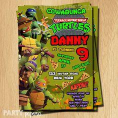 Hey, I found this really awesome Etsy listing at https://www.etsy.com/listing/227520316/ninja-turtle-invitation-tmnt-invitation