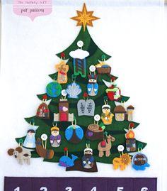 Jesse Tree Advent Calendar • 24 Ornaments • Pattern • Instant Digital Download •