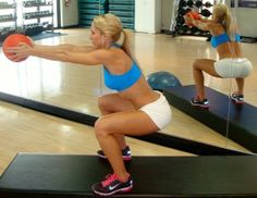 Squat with overhead tricep press. Hard Body Workout « Jenn-Fit Blog – Healthy Exercise | Healthy Food | Healthy Living