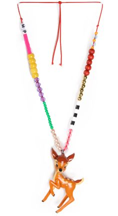 DIY animal necklaces - Dang it, just sold this Bambi at my yard sale!