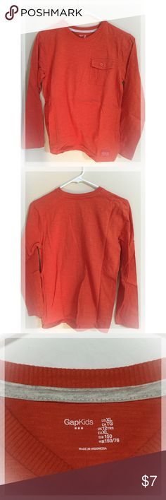 Boys GAP Orange long sleeve shirt (size 12) Excellent condition! GAP Shirts & Tops Tees - Long Sleeve