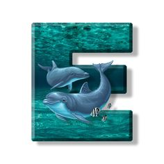 Buchstabe - Letter E Wooden Letters, Letters And Numbers, Alphabet Images, Alphabet Letters, Dolphins, Things To Come, Fancy, Lettering, Stickers