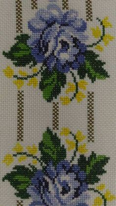 This Pin was discovered by Gül Cross Stitch Heart, Cross Stitch Borders, Cross Stitch Flowers, Cross Stitch Designs, Cross Stitching, Cross Stitch Patterns, Basic Embroidery Stitches, Cross Stitch Embroidery, Embroidery Patterns